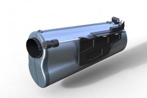 Teleskop mit gestrahlter Oberfläche
